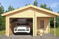 Wiaty garażowe drewniane z pomieszczeniem gospodarczym